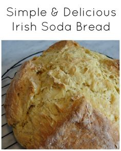 Simple and Delicious Irish Soda Bread - A quick and easy recipe that is sure to be a family favourite. We make this bread every holiday...it is the number one recipe our friends and family request. Perfect for dipping in soups and stews. Quick breads don't require any yeast...so they are super easy and fast to make and bake. | Quick Bread Recipe | Bread Recipe |