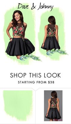 """Dave & Johnny: Homecoming black lace 2016"" by daveandjohnny212 on Polyvore featuring blacklace and daveandjohnny"