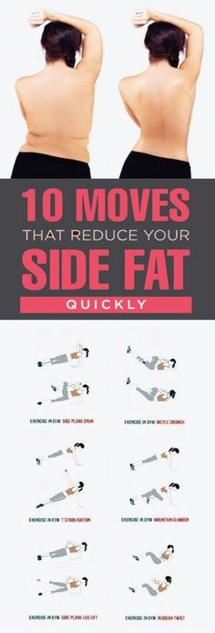 Belly Fat Workout - Have you been struggling to get rid of that side fat but are unable to? Do you wonder what kind of exercises can help you remove side fat quickly and effectively? Side fat does look very unappealing and is generally the first to appear Fitness Workouts, Gewichtsverlust Motivation, Easy Workouts, Fitness Diet, At Home Workouts, Health Fitness, Workout Routines, Workout Exercises, Health Diet