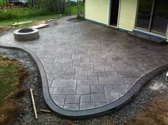 image result for stamped concrete designs patio