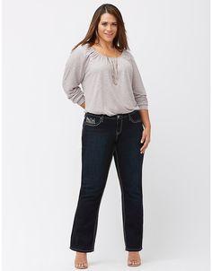 Embellished bootcut jean by Lane Bryant | Lane Bryant