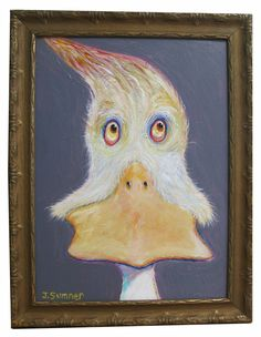 """'Hot Duck""""   Acrylic on panel 2015    11.5 x 16 inches  $95"""