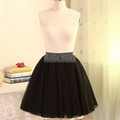 black tulle midi skirt, adult tulle skirt