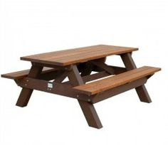 """Deluxe 6 foot Picnic Table. Instead of a seat that is only 9 1/2"""" wide the Deluxe Picnic Table has a full 11 1/2"""" wide seat allowing for comfortable seating for the user. Made in the USA. via BuyDirectUSA.com. Like - Repin - Share."""