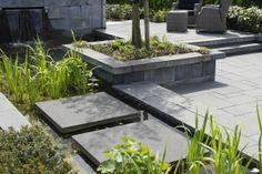 Voorbeeldtuin GeoColor+ Savile Grey. Terrastegels, tuintegels, betontegels, terras, sierbestrating, bestrating, tegels, inrichting, inrichten, ideeen, vloer, MBI De Steenmeesters, modern Plants, Garden