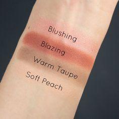 Anastasia Beverly Hills Single Eyeshadow Swatches Soft Peach Warm Taupe Blazing Blushing