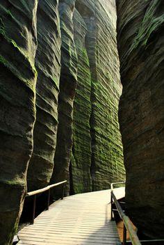 Adrspach Rocks in Bohemia, Czech Republic
