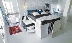 Dielle Space Saving Bed Walk In Closet 001