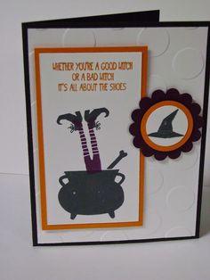 Stampin' Studio, Stampin' Up! Tee hee hee, Halloween Card