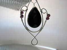 Wicked Necklace Black Onyx Mystic Garnet And by rocketgirl123, Vancouver Island Etsy Team Member