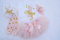 Baby Girl Birthday Outfit Girls First Birthday Outfit Gold One 1st Birthday Outfit First Birthday Outfit Girl twinkle twinkle little star