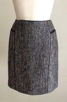 NWT WHITE HOUSE BLACK MARKET Lustrous Tweed Pencil Skirt Sz:10,12,14