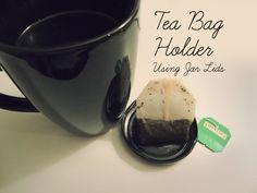 DIY: Tea Bag Holder Using Jar Lids | Simply2B.com #DIY #Teabagholder #simply2b Diy Tea Bags, Jar Lids, Tea Time, Crafty, Tableware, Dinnerware, Tablewares, Dishes, Place Settings