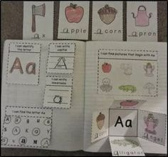 Try 'Aa' Interactive notebook for free!  3 pages of goodies for each letter