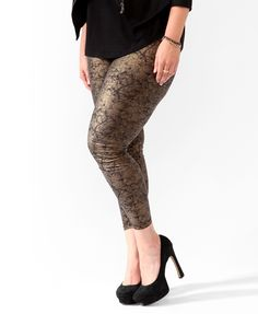 Forever 21  Plus size Metallic Leggings