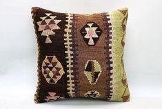 Kilim Pillow 16x16 Decorative Boho Pillow Ethnic Cushion Vintage Pillow Turkish Pillow Throw Pillow Kilim Pillow Kilim Cushion by TurqArts Kilim Cushions, Bohemian Pillows, Throw Pillows, Pillow Covers, Cushion Covers, Handmade Pillows, Decorative Pillows, Vintage Pillows, Geometric Pillow