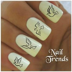 Doves Nail Decal Great for Pentecost Sunday
