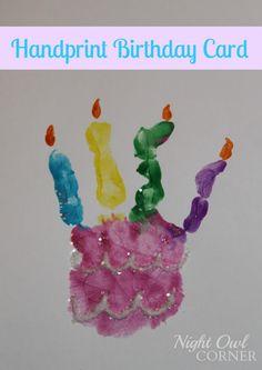 Handprint Birthday Card