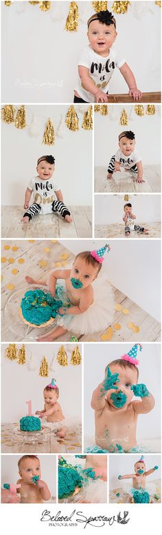 Fayette County Cake Smash Photographer   Peachtree City Child Photographer   One Year Old Girl Session   Black & Gold Theme   One Year Cake Smash Session   Beloved Sparrow Photography   www.belovedsparrow.com