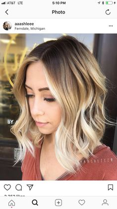 Ombre short curly hair sassy hairstyles to wear at any age a see more women wavy . ombre short curly hair blue haircuts for women balayage . Short Blonde Haircuts, Short Curly Hair, Short Hair Cuts, Curly Hair Styles, Curly Haircuts, Wavy Hair, Dark Roots Blonde Hair Short, Frizzy Hair, Updo Curly