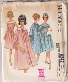 Mccalls Patterns, Vintage Sewing Patterns, Clothing Patterns, Dress Patterns, Mode Vintage, Vintage Ladies, Pyjamas, 1960s Fashion, Vintage Fashion