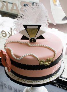 Whipped Bakeshop Philadelphia: Art Deco Birthday Cake