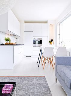 Via Less is More | White | Grey | Eames Chair | Kitchen