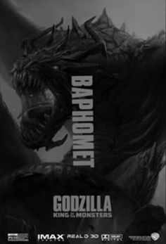 Baphomet in Godzilla King of the Monsters Neo Monsters, All Godzilla Monsters, Godzilla Comics, Godzilla 2, Nike Football Kits, Godzilla Wallpaper, Godzilla Franchise, Godzilla Birthday, Old Posters