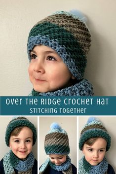 You'll love this free pattern for fun crochet boy hat made with Caron Chunky Cupcakes. You can easily adjust the size to fit toddlers, bigger kids or adults. Don't forget to save! Crochet Hats For Boys, Crochet Toddler, Crochet Baby Hats, Crochet Gifts, Free Crochet, Unique Crochet, Crochet Lace, Chunky Crochet Hat, Crochet Beanie Pattern