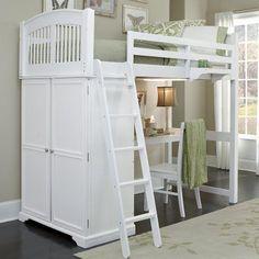 NE Kids Walnut Street Locker Loft Bed - White - 8060NDHN