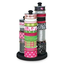 This item is sold individually in store.Keep all your favorite ribbons in one place with this Offray® Ribbon Carousel. From grosgrains, satins to organdies and velvets, this ribbon carousel organizes
