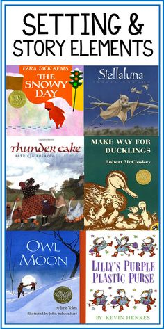 My Favorite Picture Books for Setting and Story Elements! - Thank God It's First Grade!
