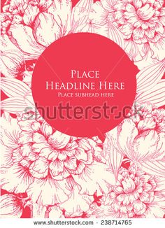 peony template vector/illustration - stock vector