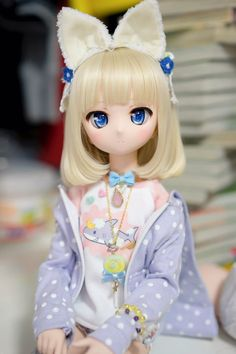Pretty Dolls, Cute Dolls, Beautiful Dolls, Anime Chibi, Kawaii Anime, Glass Dolls, Kawaii Doll, Anime Figurines, Dream Doll