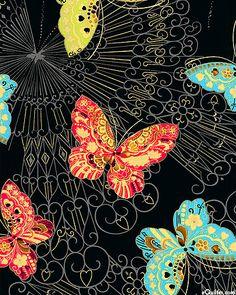Sakura – Butterfly Fantasy - Quilt Fabrics from www.eQuilter.com