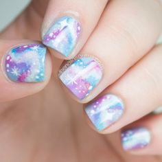 The Qualities of a Galaxy http://blog.thehunt.com/post/91056659637/mani-monday-galaxy-print-nail-tutorial