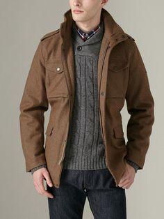 Ben Sherman  Melton Wool Military Jacket