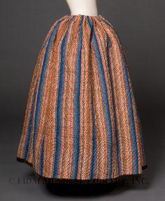 Quilted petticoat, c. 1840-45