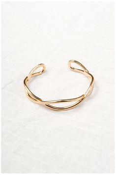 Brass Waves Cuff: Gold | $32