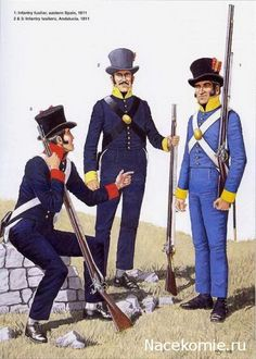 Spanish Army of the Napoleonic Wars (2) 1808-1812 1-Infantry fusilier,eastern spain 1811 2-3 Infantry fusiliers, Andalousia 1811