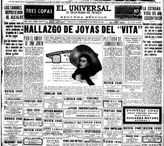 Portada del diario El Universal, del 22 de enero de 1941.