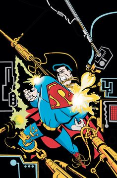 #Superman #Fan #Art. (DC COMICS PRESENTS: SUPERMAN ADVENTURES #1) By: RICK BURCHETT & TERRY AUSTIN. [THANK U 4 PINNING!!]