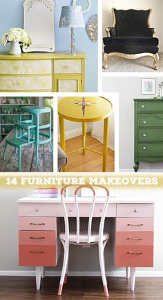 Trend: 14 Furniture Makeovers Do you feel like your home needs a little sprucing? No need to buy new furniture, update those old pieces with some paint or wallpaper. Don't like the furniture you have? Head to a thrift store and find some inexpensive furniture that just needs a little bit of love. There are [...]