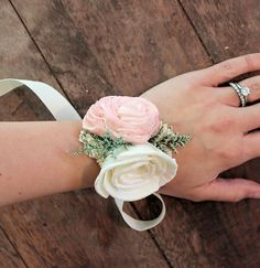 Romantic Wedding Corsage Mother of the von CuriousFloralCrafts