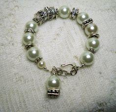Bracelet  Winter White Pearl Breacelet  Chunky by TwystedCreations, $17.95