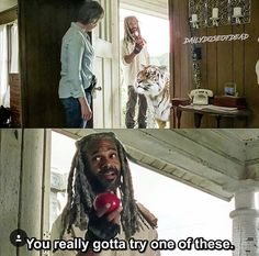 "The Walking Dead 7x02. ""You really gotta try one of these."""