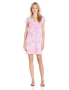 Lilly Pulitzer Womens Harper Dress No Pink Pout Too Much Bubbly Large * Find out more about the great product at the image link.