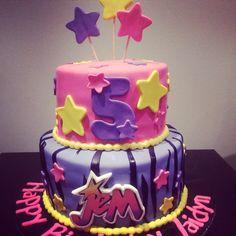 Jem & the holograms themed cake