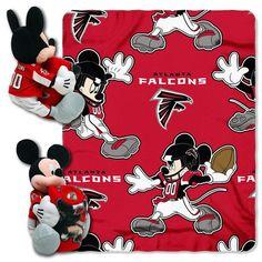 Atlanta Falcons Mickey Mouse Hugger with Throw at SportsFansPlus.com