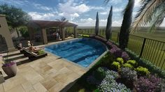 AMS - Assorted 3D Renderings - tropical - Drawings - Orange County - AMS Landscape Design Studios, Inc.